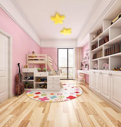 简欧儿童房书柜卧室空间3D模型【ID:47154754】