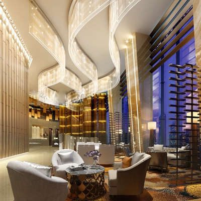 现代酒店大堂空间3D模型【ID:47158121】