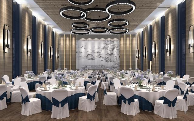 新中式酒店宴会厅3D模型