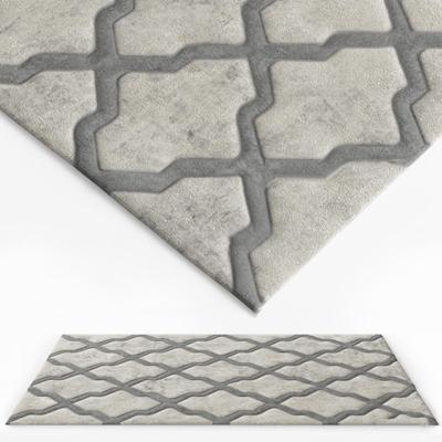 现代绒布地毯3D模型【ID:47173908】