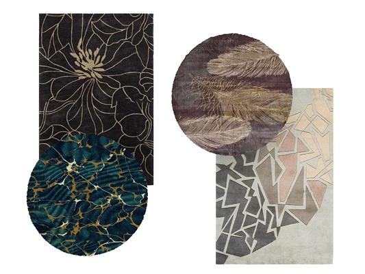 新中式地毯组合3D模型【ID:47228401】