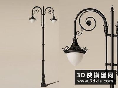 歐式路燈國外3D模型【ID:929665215】