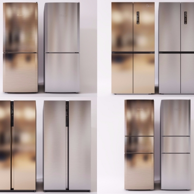 現代冰箱3D模型【ID:128406288】