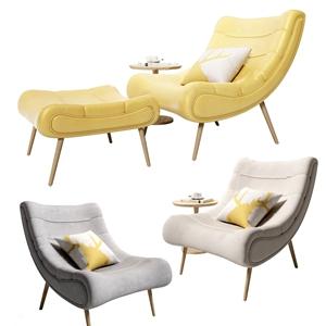 北欧躺椅3D模型【ID:734270349】