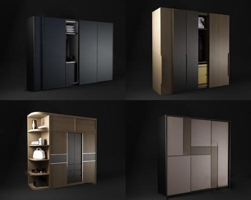 现代衣柜3D模型【ID:924888972】