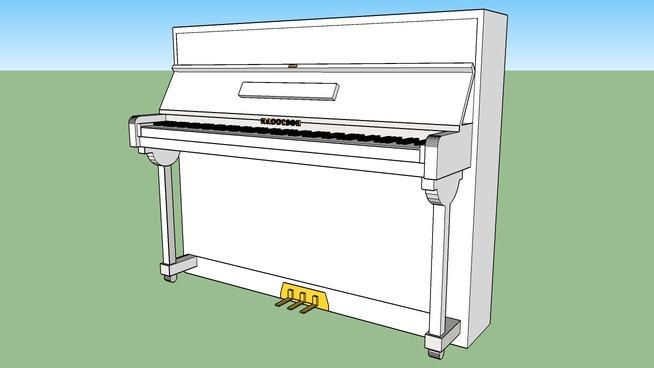 直立钢琴SU模型【ID:939702147】