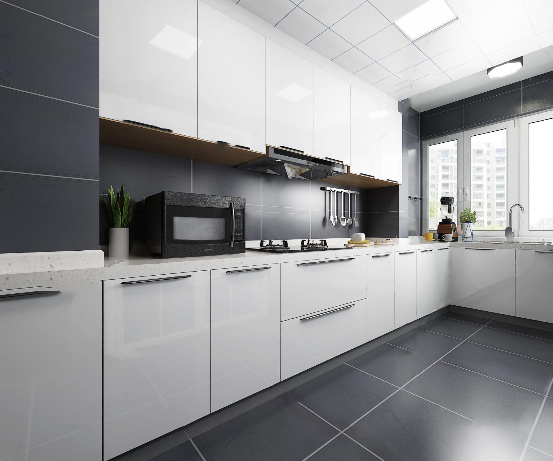 現代廚房3D模型【ID:543426059】