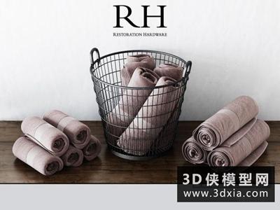 毛巾國外3D模型【ID:129466416】