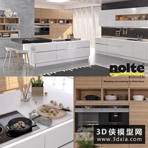 现代厨柜模型国外3D模型【ID:829313030】