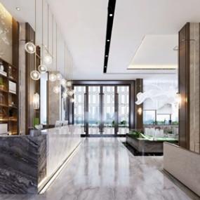 新中式售楼处3D模型【ID:431431595】