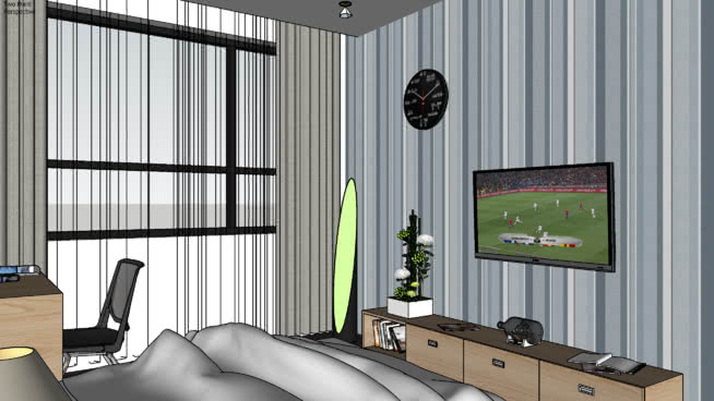 bedroom(封虞)SU模型【ID:539704007】