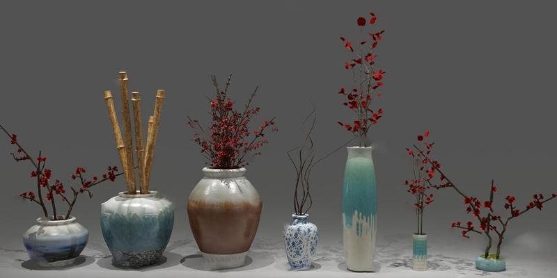 花瓶3D模型【ID:720610697】