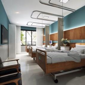 医院病房3D模型【ID:928178673】