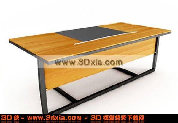简单的办公桌3D模型【ID:4821】