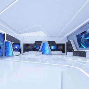 现代科技展厅3d模型【ID:743349081】