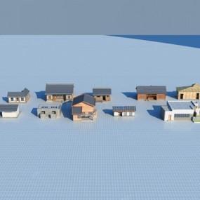 新中式建筑3D模型【ID:126230829】