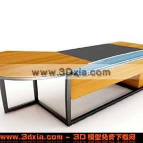 设计美观的办公桌3D模型【ID:4835】