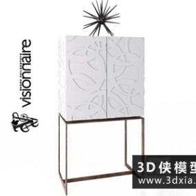 现代装饰柜国外3D模型【ID:829481084】