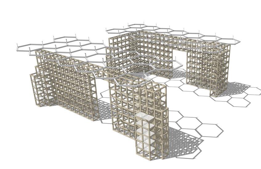框架造型SU模型【ID:136376989】