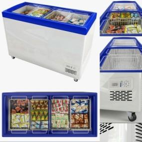 现代超市冰箱冰柜3D模型【ID:128412274】