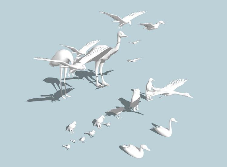 鸟组合SU模型【ID:736376499】