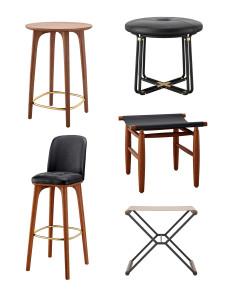 北欧吧台椅凳子组合3D模型【ID:327786104】