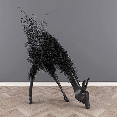 现代雕塑3D模型【ID:326230849】