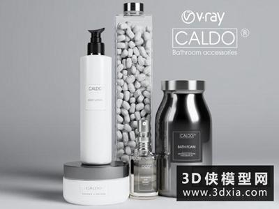 洗浴用品組合國外3D模型【ID:129432421】