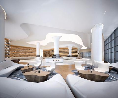 现代红酒馆展厅3D模型【ID:228020291】