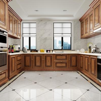 新中式廚房櫥柜3D模型【ID:127772491】