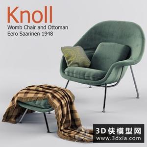 现代休闲椅国外3D模型【ID:729313807】