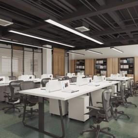 现代办公室3D模型【ID:728081683】