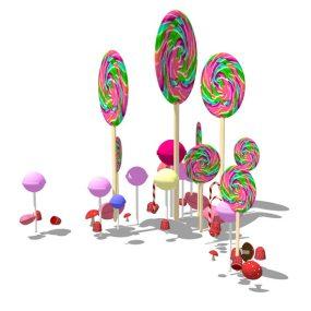 棒棒糖雕塑SU模型【ID:636377678】