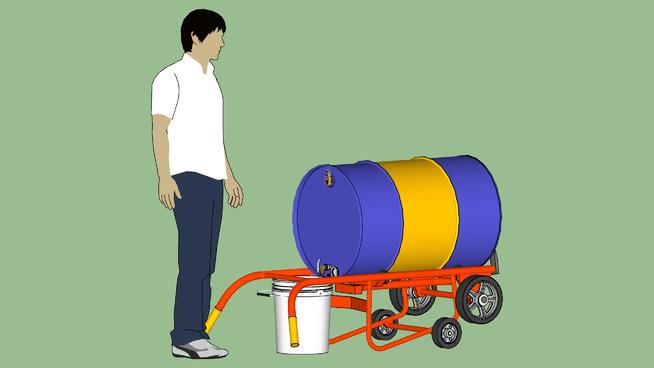 工业系列.设备.容器.鼓.韦斯科分配鼓车.分配模式SU模型【ID:939713597】