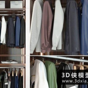 男装衣服模型国外3D模型【ID:929348653】