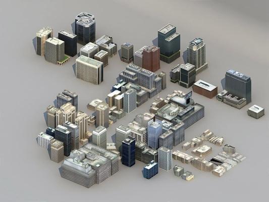 室外鸟瞰建筑3D模型【ID:528025492】