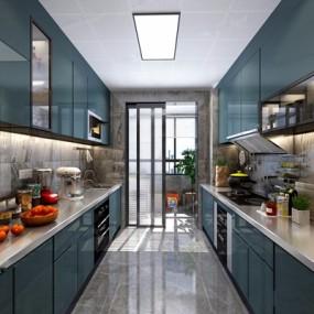 北欧厨房3D模型【ID:528278060】