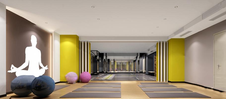 现代瑜伽室3D模型【ID:920602514】