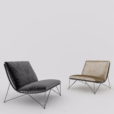 现代休闲椅3D模型【ID:634042470】