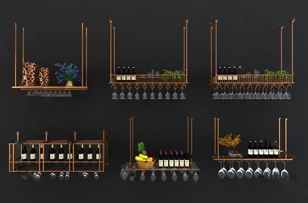 现代酒架3D模型下载【ID:919429029】