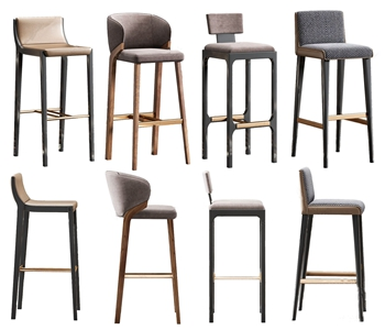 北欧吧椅3D模型【ID:932416205】