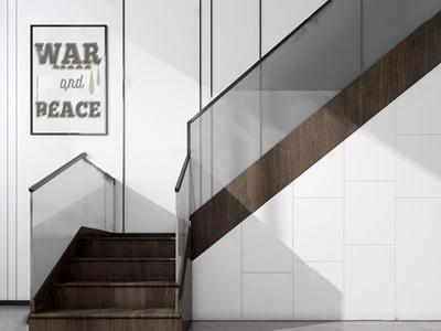 北欧楼梯储藏柜3D模型【ID:336238528】