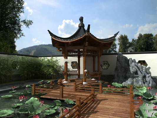 庭院3D模型【ID:620014204】