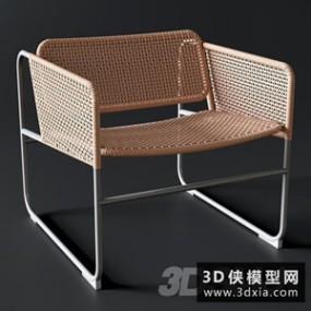 现代藤椅国外3D模型【ID:729306832】