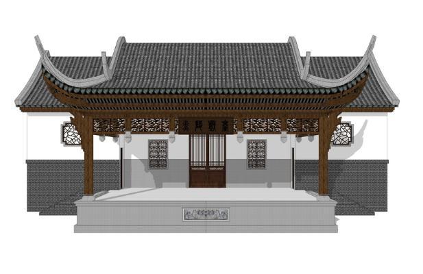 中式戏台SU模型【ID:846383623】
