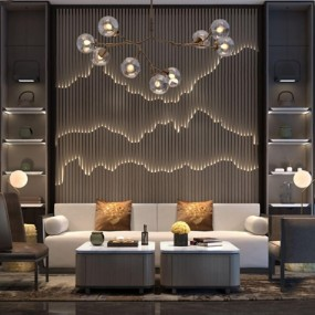 新中式沙发组合3D模型【ID:127876022】