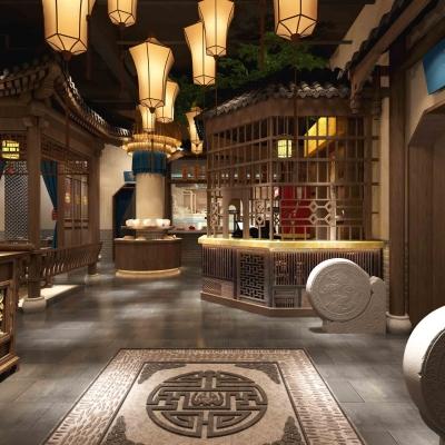 中式餐馆3D模型【ID:327794436】