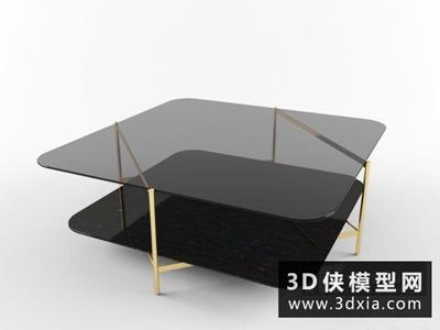 現代茶幾國外3D模型【ID:829587116】