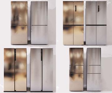 现代冰箱3D模型【ID:120796804】
