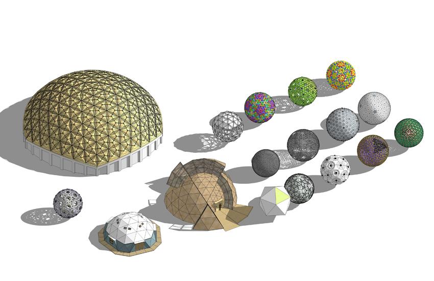 球體造型建筑SU模型【ID:836379452】